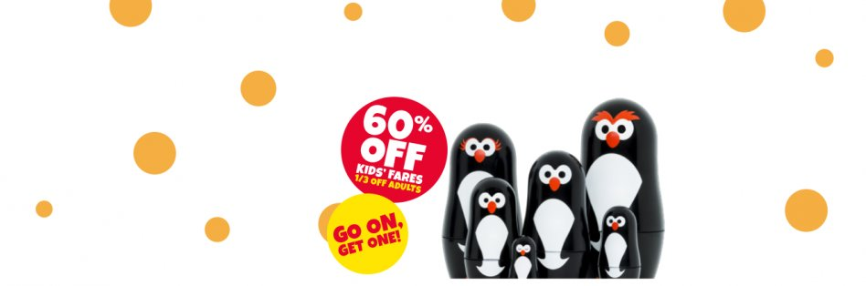60 Off Kids Fares 1 3 Adult